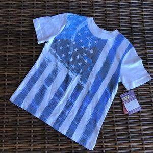 Arizona American Flag Surfer Shirt 4 White Tee NEW